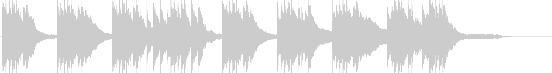 エンディングに最適な穏やかなピアノソロの未再生の波形
