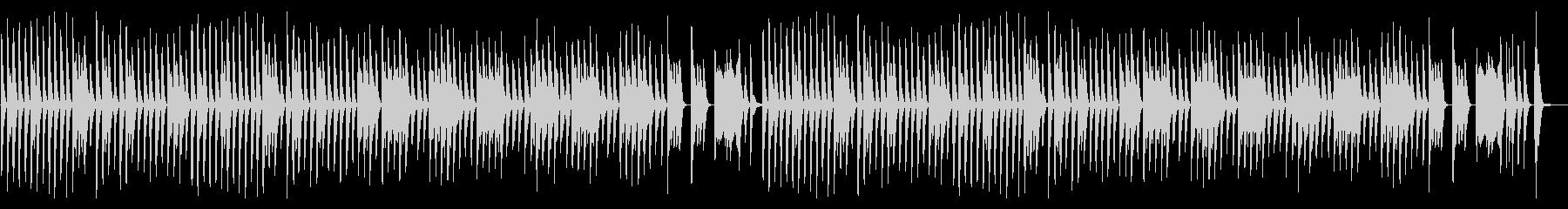 シンプルでほのぼのしたキッズ向けピアノ曲の未再生の波形