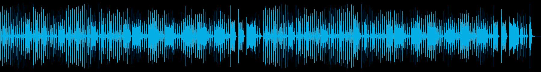 シンプルでほのぼのしたキッズ向けピアノ曲の再生済みの波形