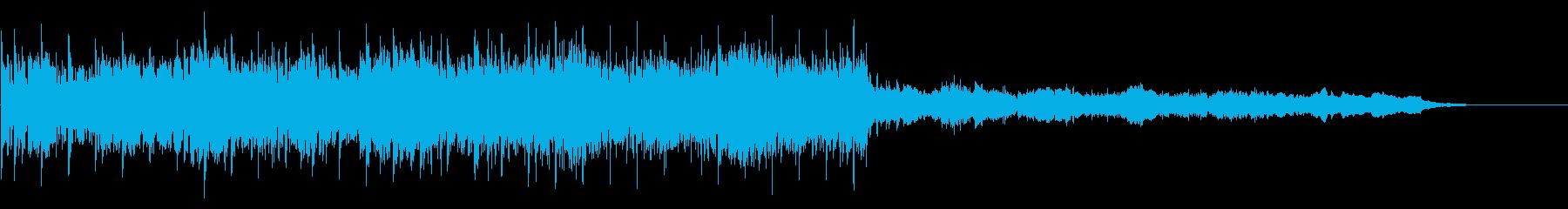 焦燥感のあるBGMの再生済みの波形