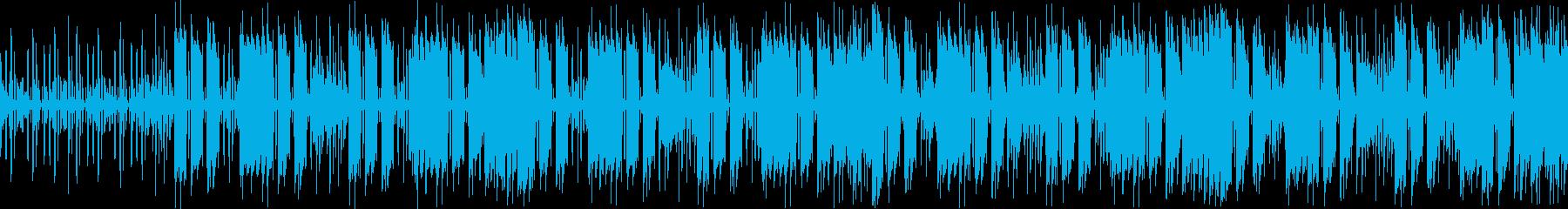 ベースとギターのクールなループ曲の再生済みの波形
