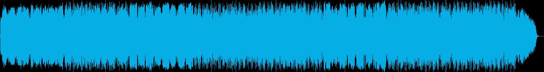 優しい自然、風の音色のヒーリング音楽の再生済みの波形