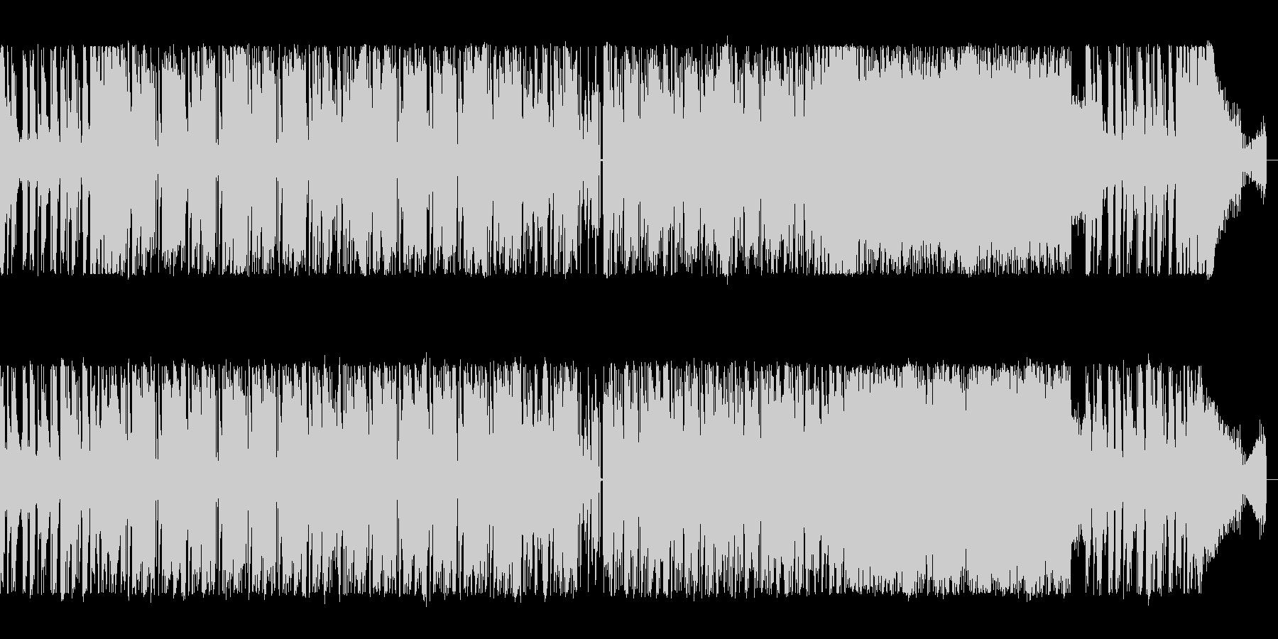 ギターとシンセサイザーのハードロックの未再生の波形