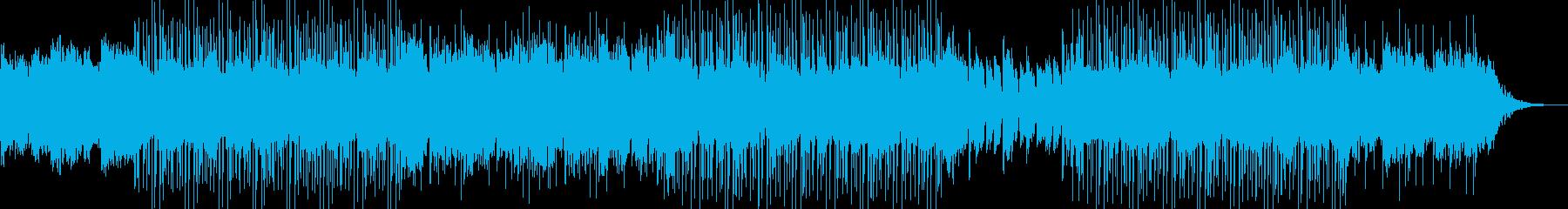 エレクトロニカ、緊張感、ミドルテンポの再生済みの波形