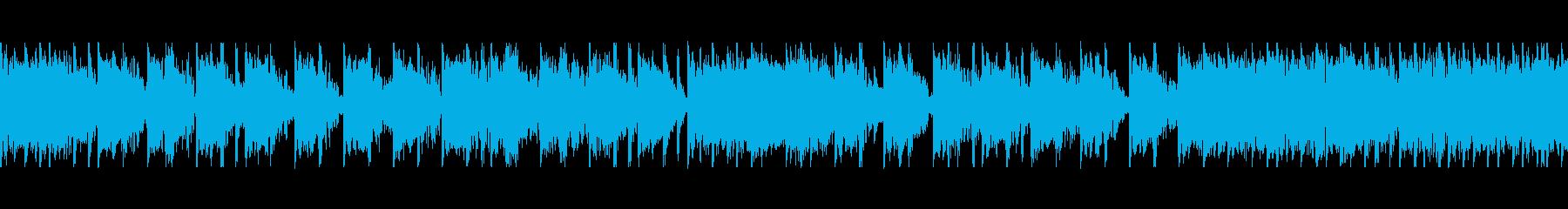 ダークなイメージのゆっくりな曲の再生済みの波形