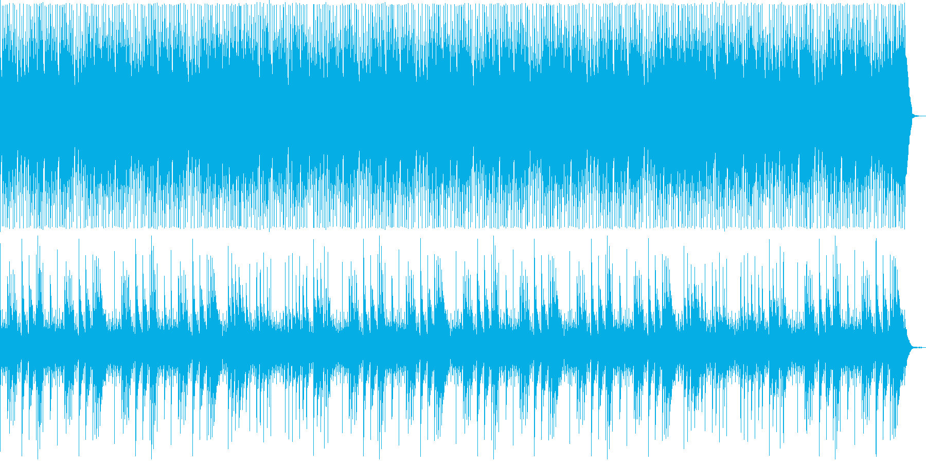 メモリアルに最適な優しい曲の再生済みの波形