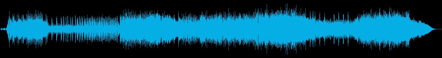 疾走感のあるテンポの速いロックサウンドの再生済みの波形