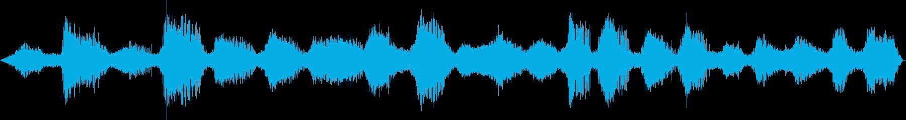 ヒグラシの鳴き声1 ひぐらし 蜩の再生済みの波形