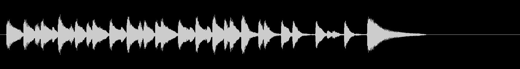 テーマ1B:ベース、ピアノの未再生の波形