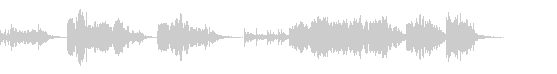 尺八と琴の純和風なイントロの未再生の波形