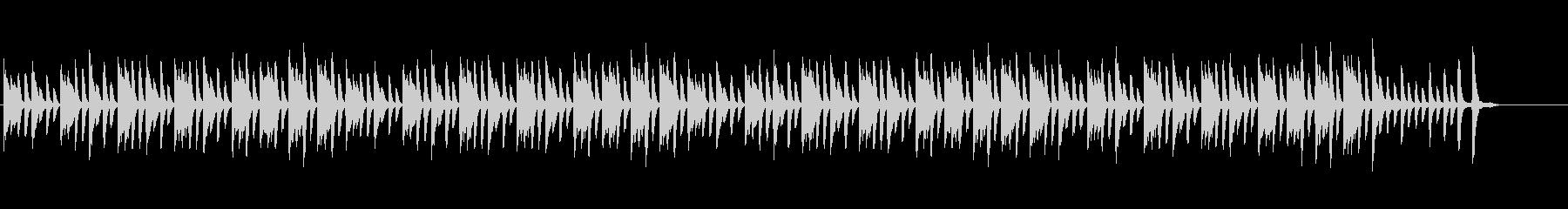 ほのぼの系ピアノソロの未再生の波形