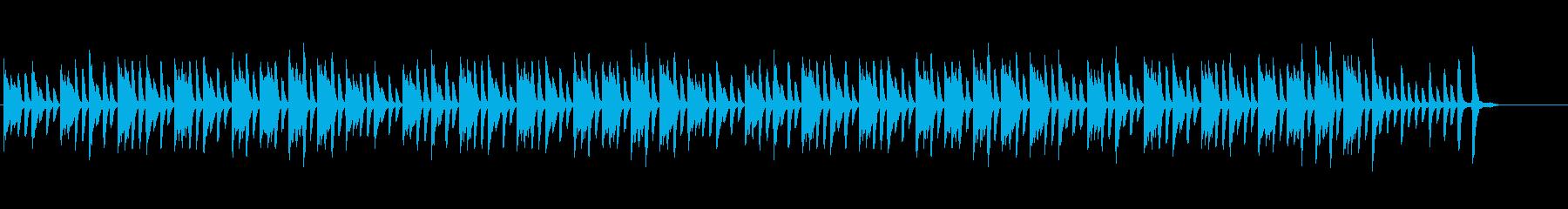ほのぼの系ピアノソロの再生済みの波形