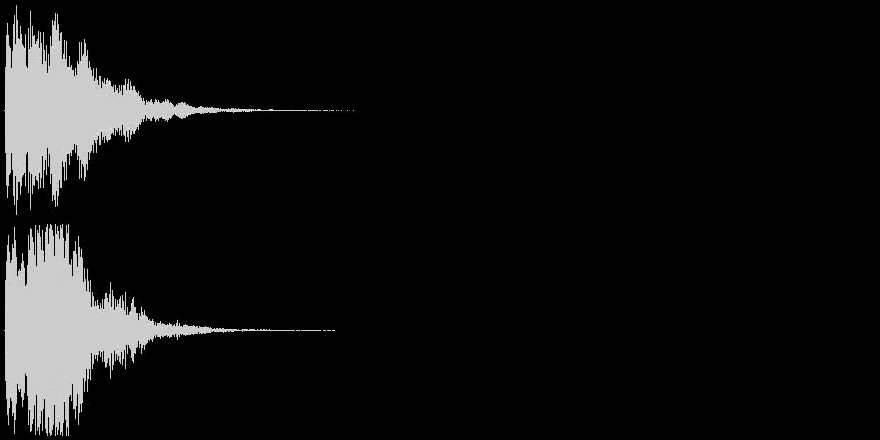 「表示」キャプション/テロップ_001の未再生の波形
