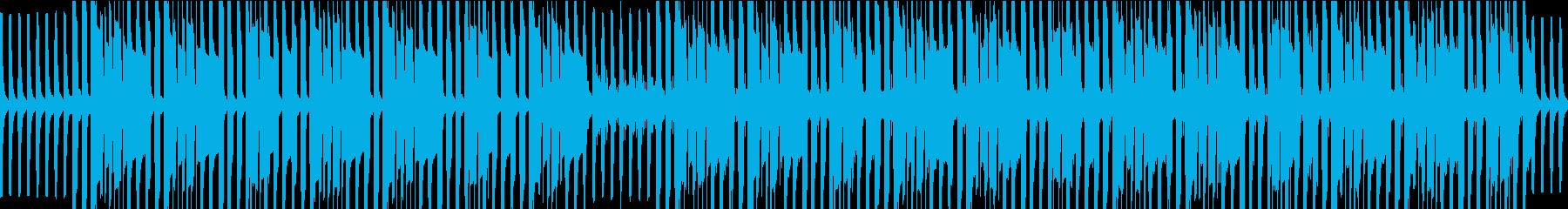 探偵、バスドラ四つ打ちループ音源の再生済みの波形