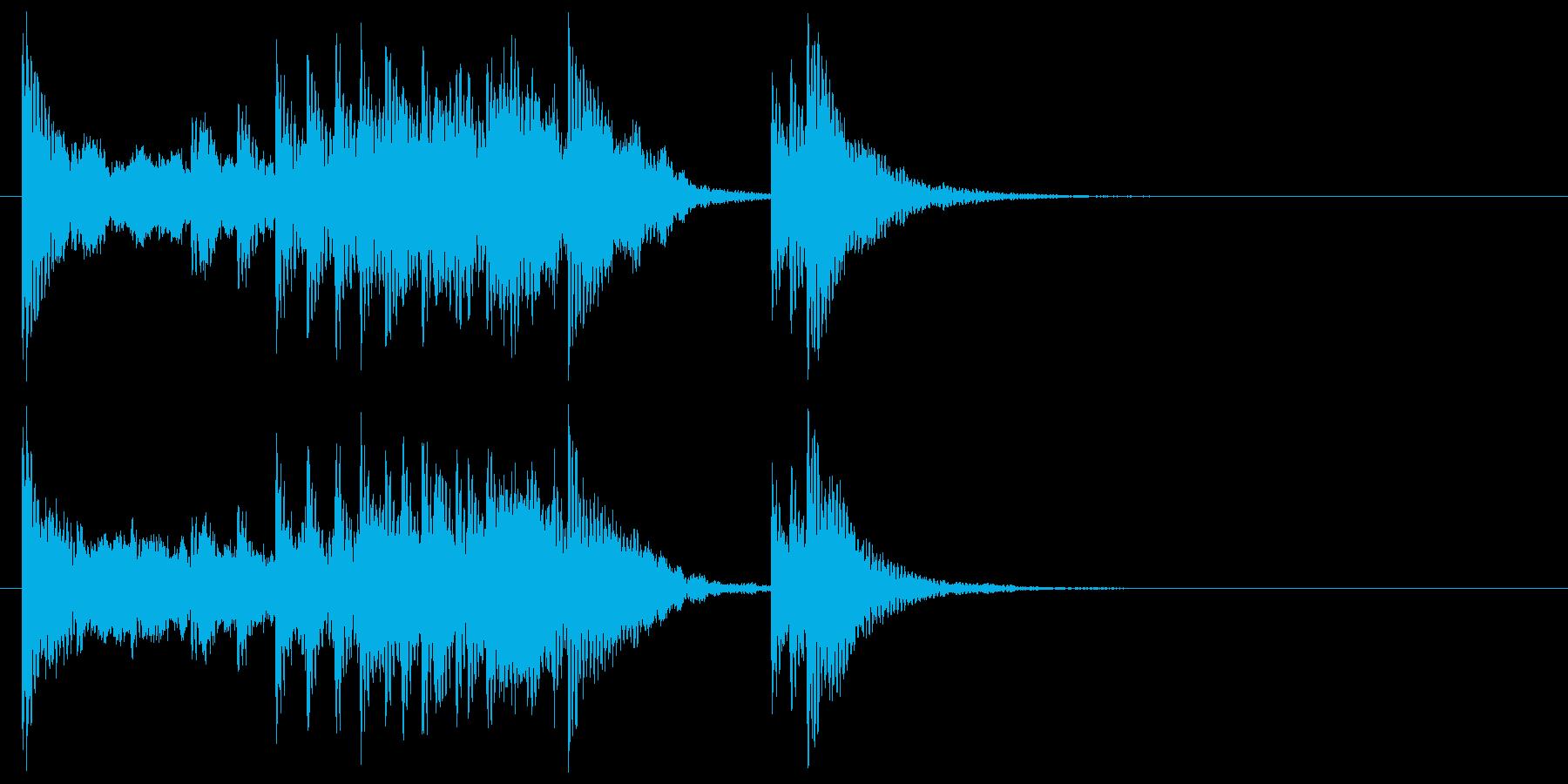 和楽器☆和風ジングル1リバーブの再生済みの波形