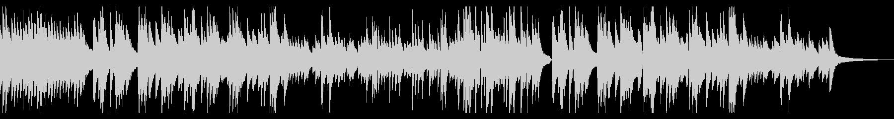 切なく温かいメロディのピアノソロバラードの未再生の波形