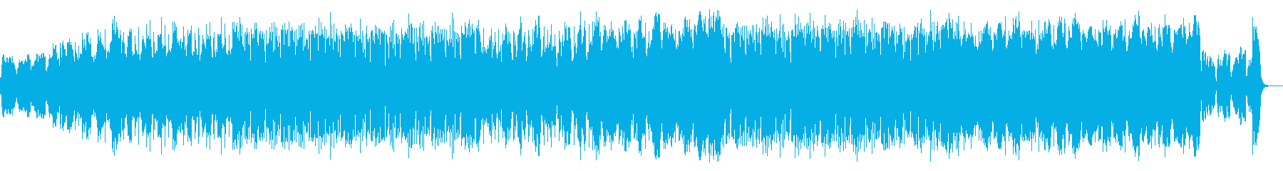 オーボエのリフレインとエレクトロニカの再生済みの波形