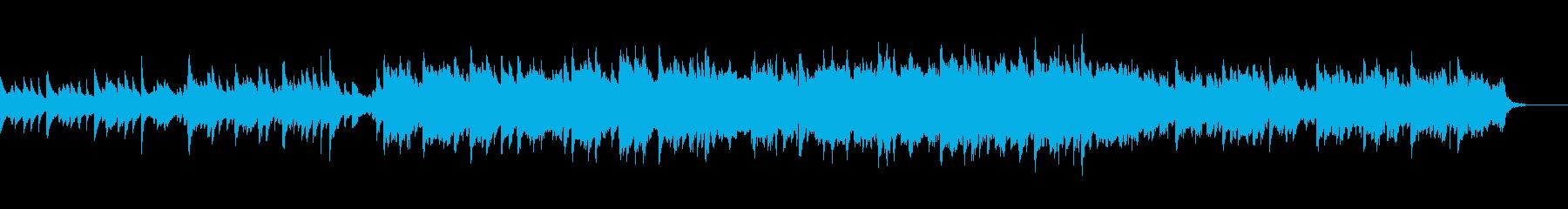 ピアノとストリングスの軽やかな曲の再生済みの波形