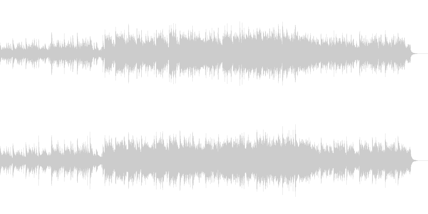 ピアノとストリングスの軽やかな曲の未再生の波形