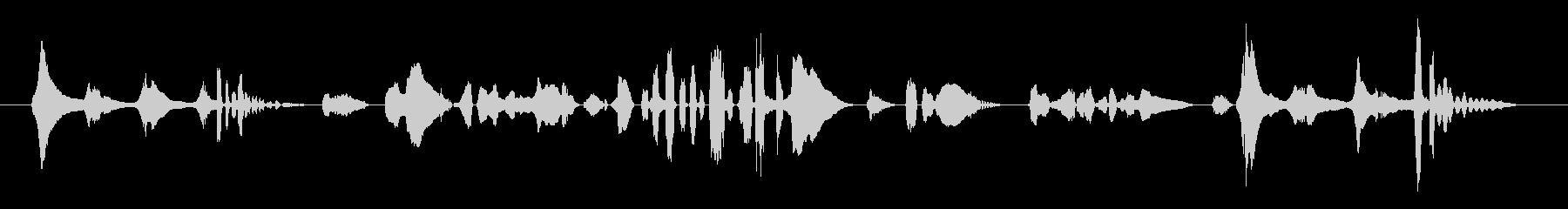 (猫の鳴き声+人間の言葉)の未再生の波形