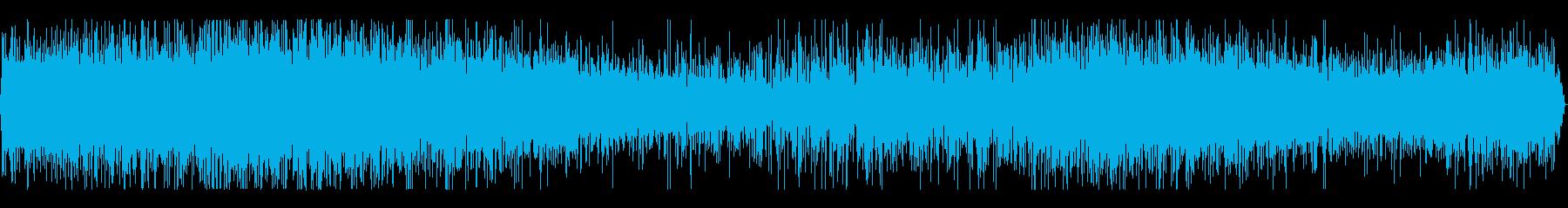 雨と雨が傘を打つ音(バイノーラル録音)の再生済みの波形