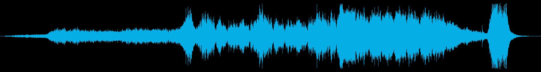 四度場面が変わるオーケストラ曲の再生済みの波形