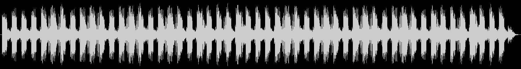 静かなフローズン・ループの未再生の波形