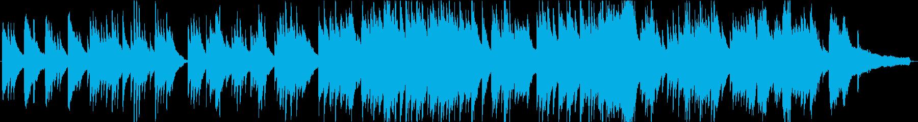 ピアノの綺麗な高音と旋律が特徴のピアノ曲の再生済みの波形