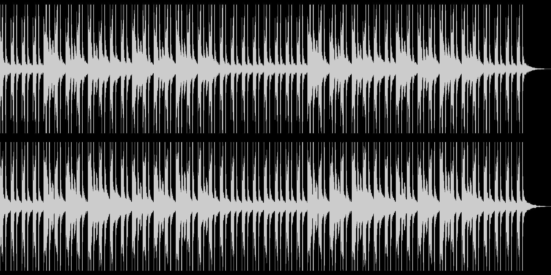 ほのぼのしたまったりな雰囲気のBGMの未再生の波形
