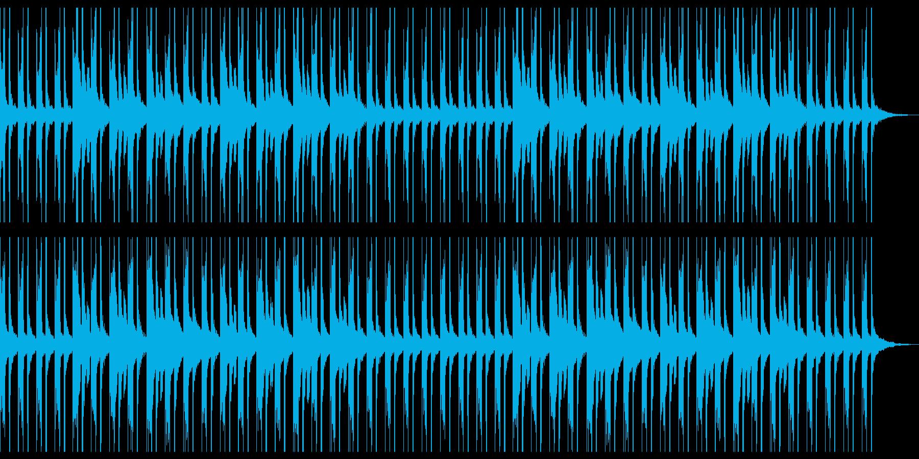 ほのぼのしたまったりな雰囲気のBGMの再生済みの波形