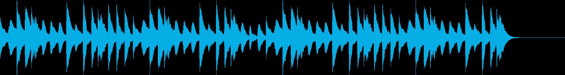 ほのぼのした日常 マリンバの再生済みの波形