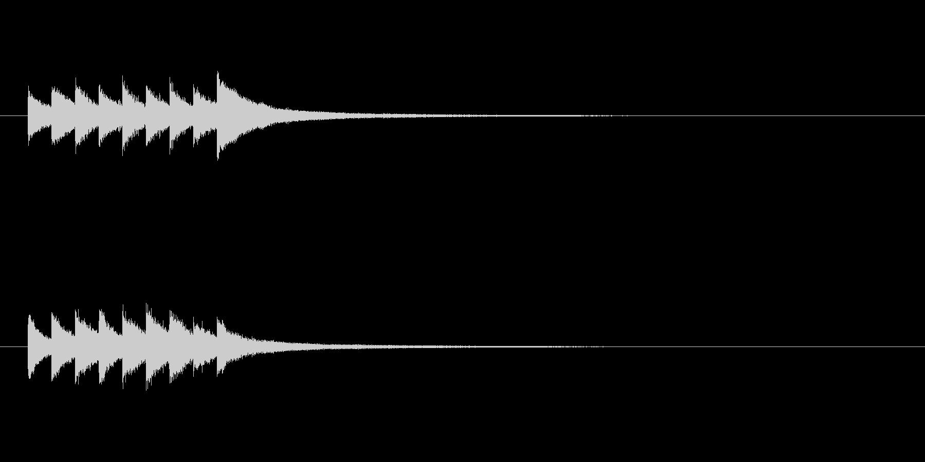 グロッケンシュピールの短いジングルの未再生の波形