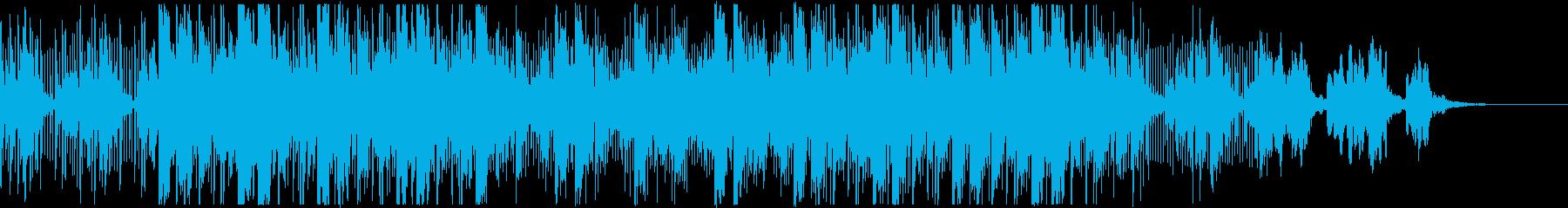 浮遊感のあるトラップビートの再生済みの波形