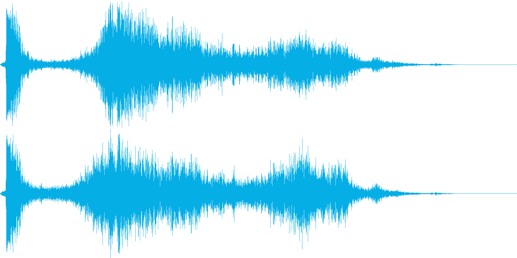 【銃声音009】ライフルの発砲音の再生済みの波形