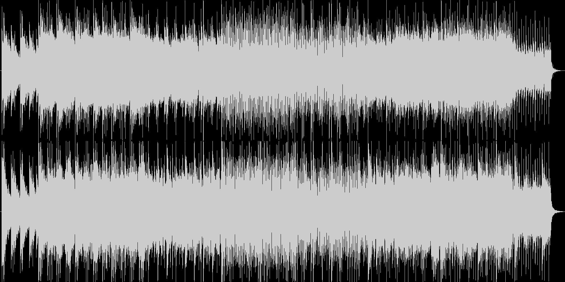 ピアノバンドによるエモーショナルトラックの未再生の波形