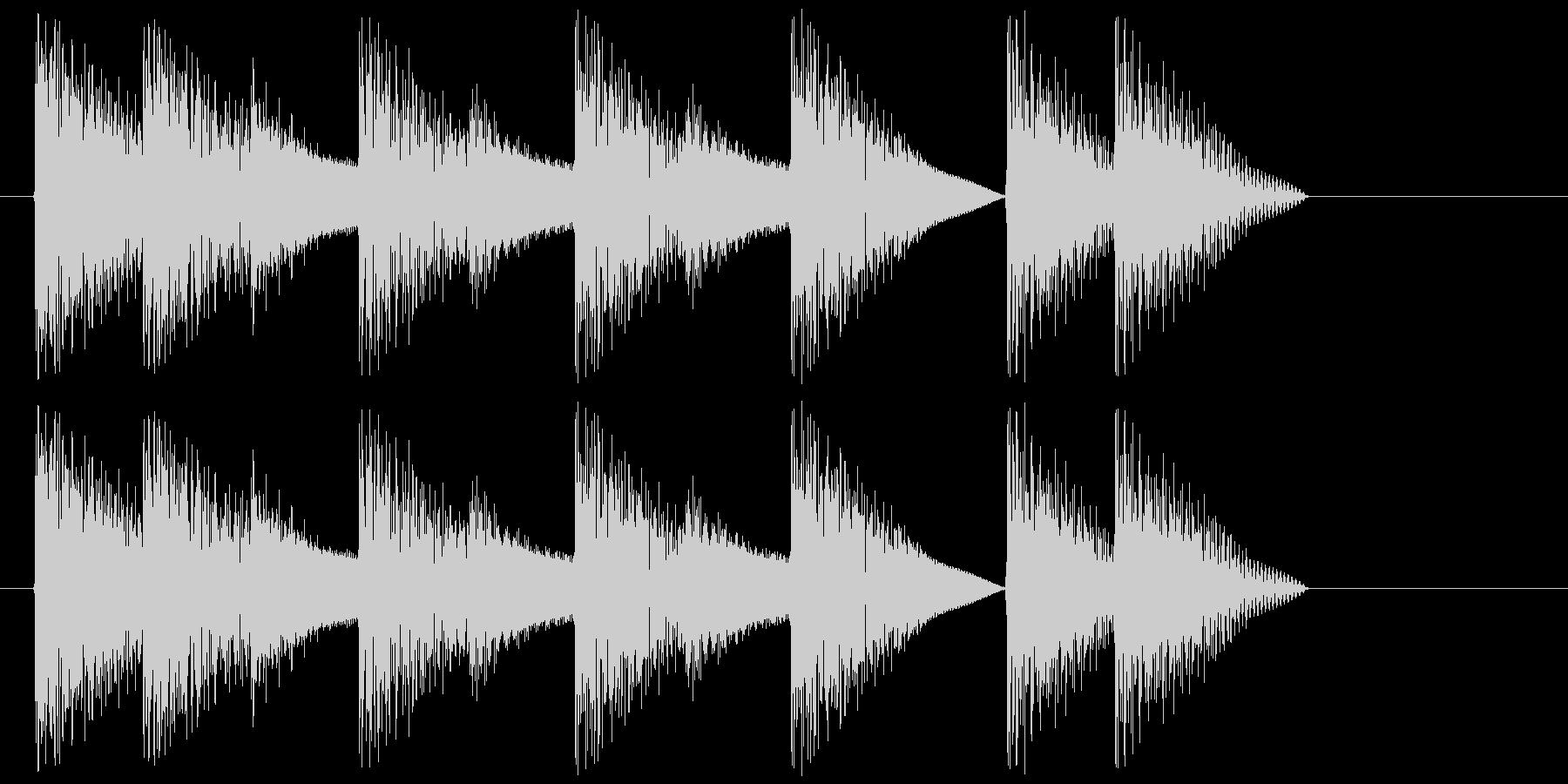 8bitジングル#3スタート&クリアの未再生の波形