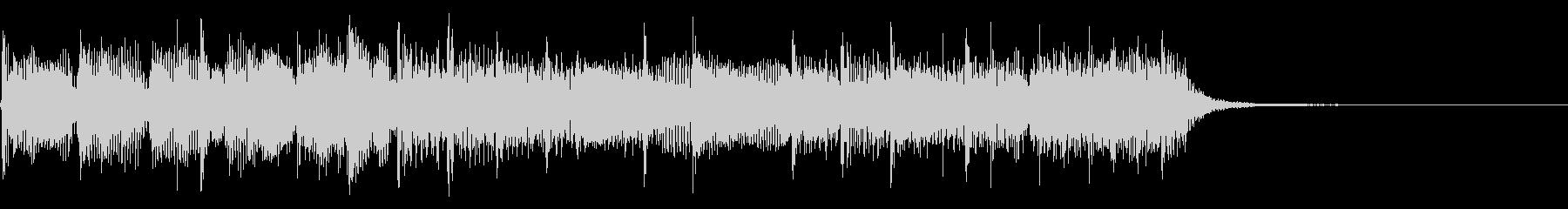 インパクトあるロックなジングル14の未再生の波形