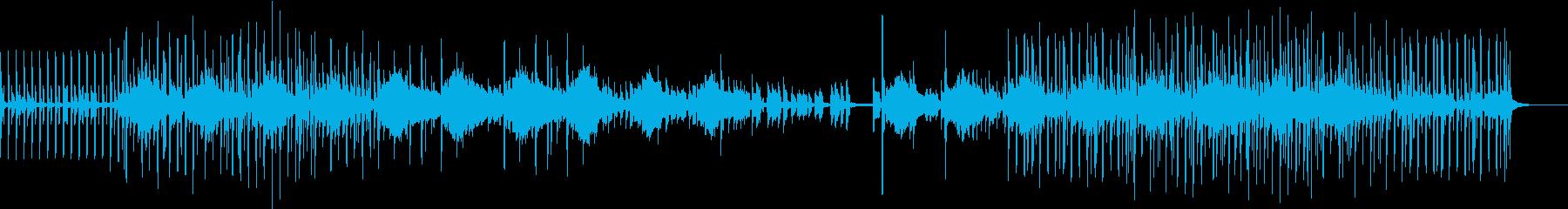 不気味さと陽気さを兼ね備えたテクノポップの再生済みの波形