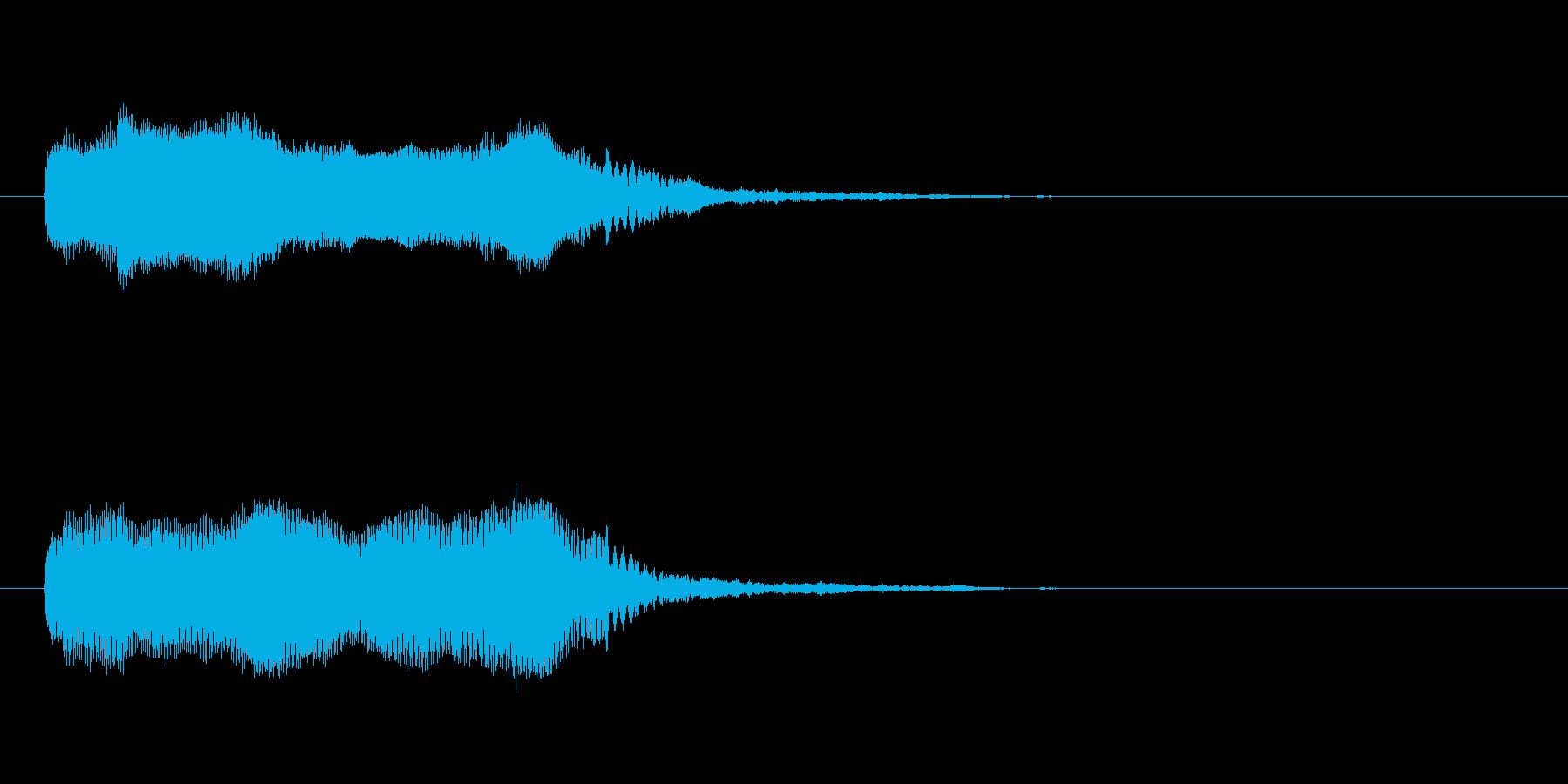 「ガァ〜〜!」カラスやカモの鳴き声の擬音の再生済みの波形
