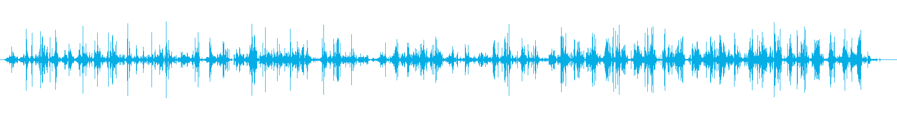 フットステプス、小石、遅い; DI...の再生済みの波形
