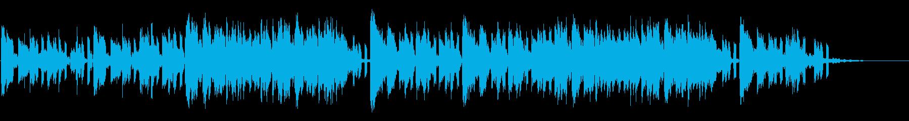 CMや短尺動画用のゆったり癒し系楽曲の再生済みの波形