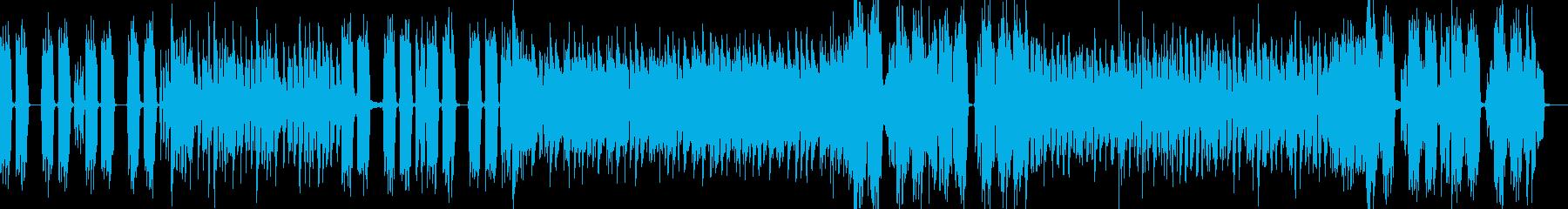 ノリのよい爽快ハードロックBGMの再生済みの波形