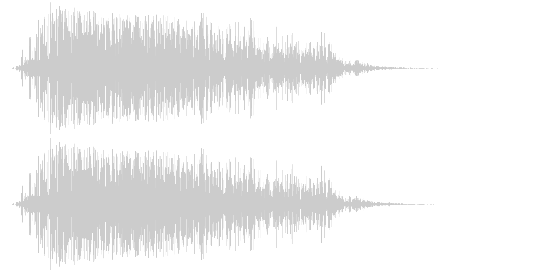 モンスター ガオー 02の未再生の波形