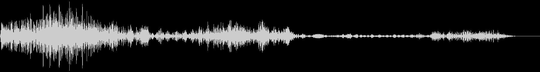 衝撃、ノイズ(バシッシュワシュワ)の未再生の波形