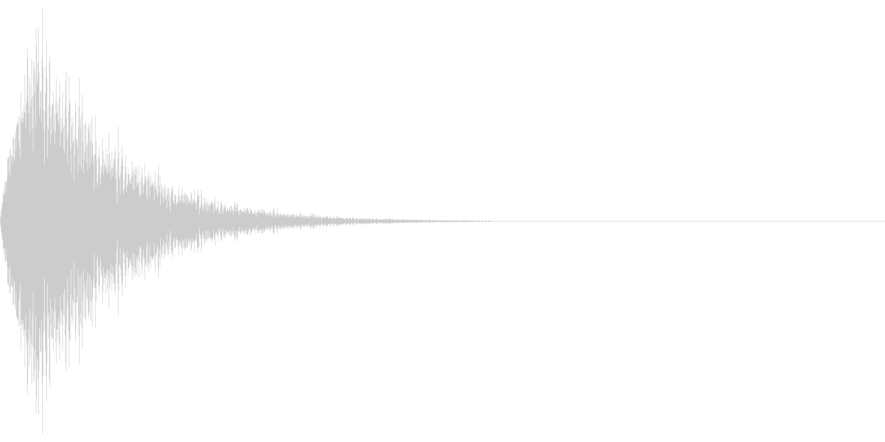 ビシューンの未再生の波形