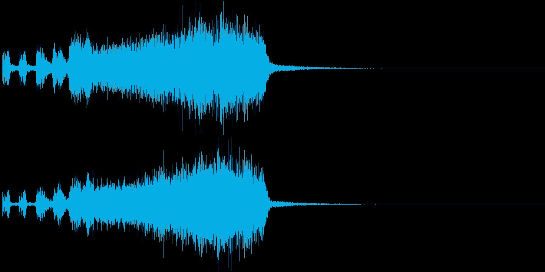怪しげな雰囲気⇨悪いヤツ登場のジングルの再生済みの波形