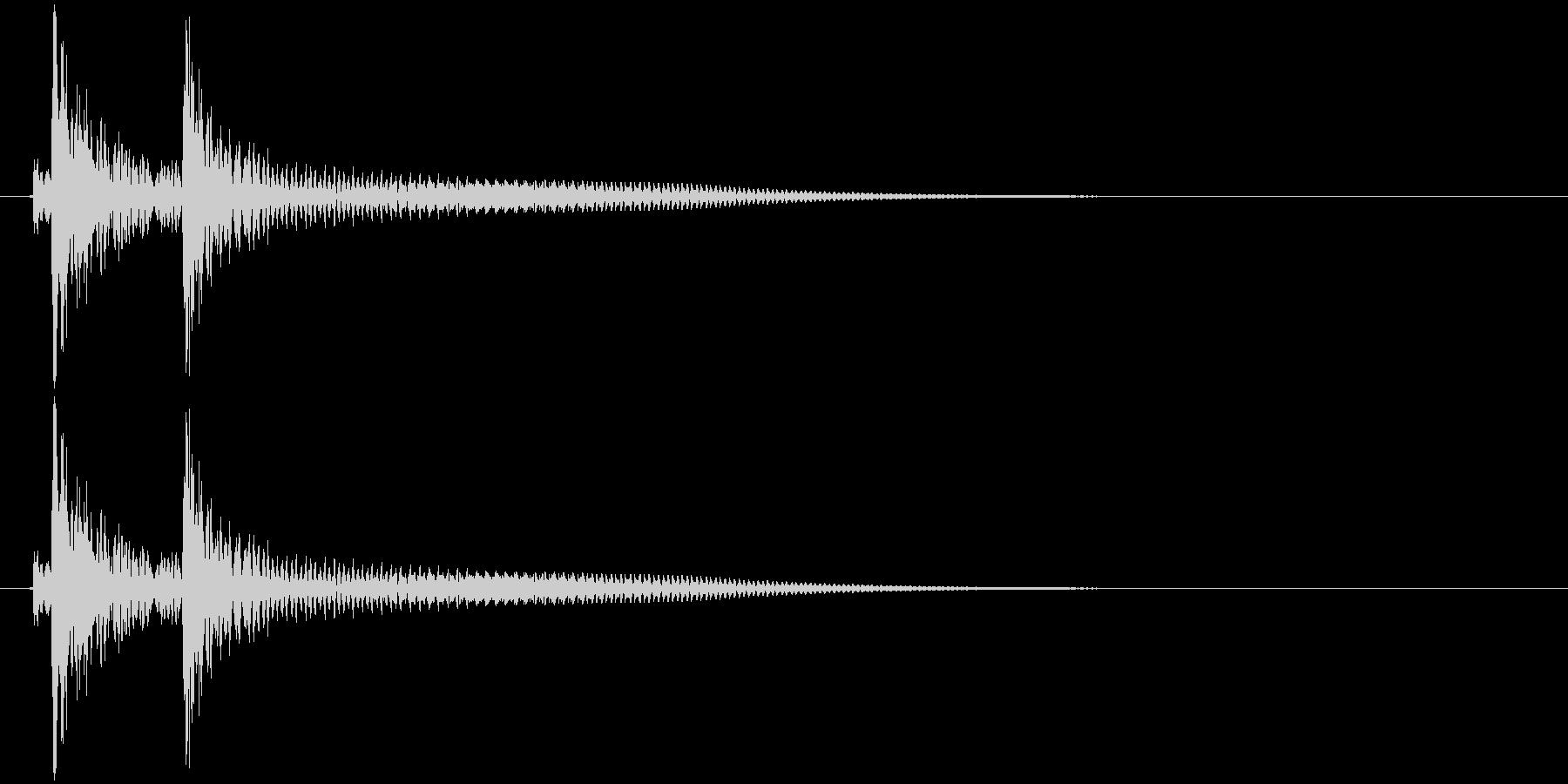 沖縄風クリック・タップ音3の未再生の波形