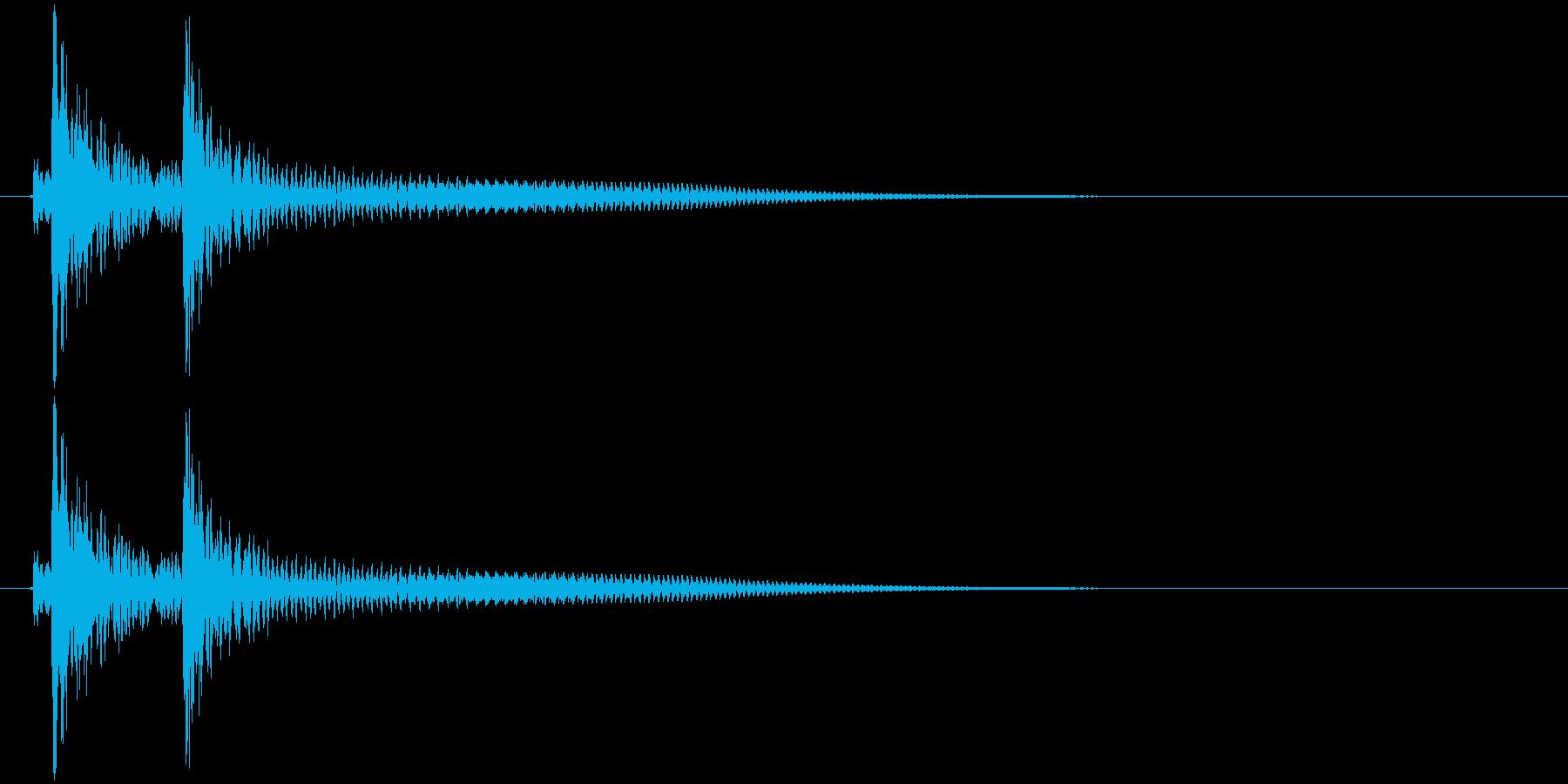 沖縄風クリック・タップ音3の再生済みの波形