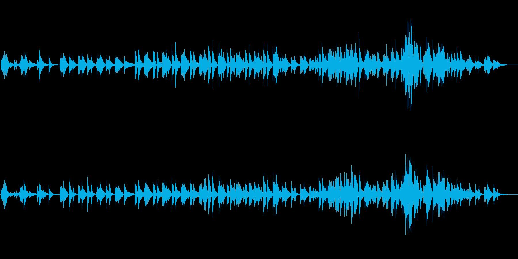 寂しげな深い内面をイメージするピアノ曲の再生済みの波形