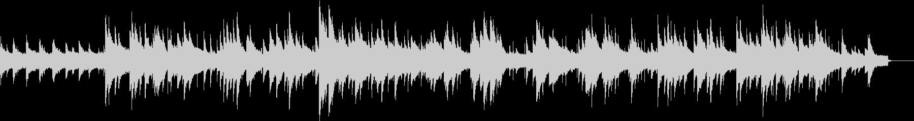 チェレスタとパイプオルガンの聖なる曲の未再生の波形